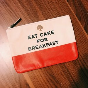 Kate Spade Eat Cake for Breakfast clutch. Not used